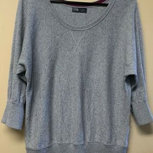 The North Face Gray and Purple Sweater Shirt